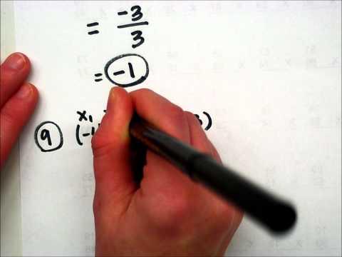 Finding Slope Using the Slope Formula.wmv
