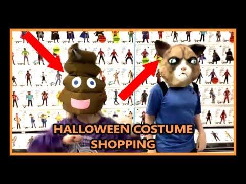 Grumpy Cat V/S Poop Emoji!!! SHOPPING FOR HALLOWEEN COSTUMES!!!