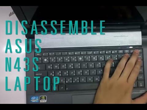 How to take apart/disassemble Asus N43S laptop