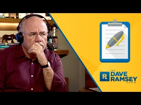 Husband Isn't Submitting To The Dave Ramsey Plan
