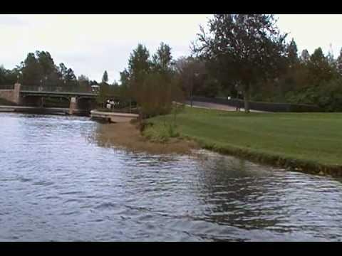 Walt Disney World Boat ride Disney's Boardwalk to EPCOT's International Gateway