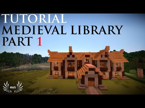 Minecraft - How to Build a Medieval Library (Part 1/4)