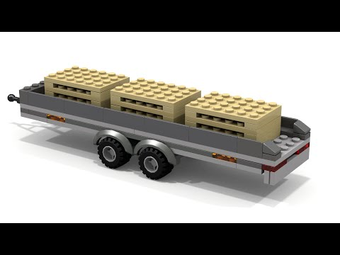 Custom LEGO City Palette Trailer MOC Instructions