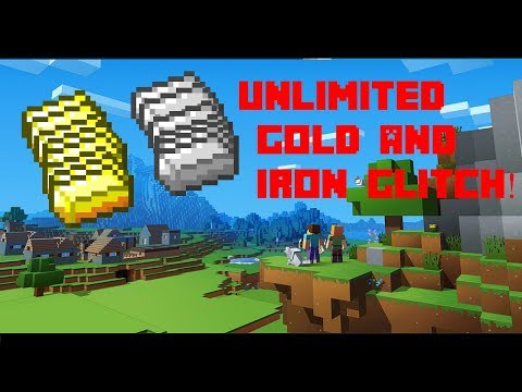 UNLIMITED GOLD AND IRON GLITCH! MINECRAFT I PS4, XB1, PC