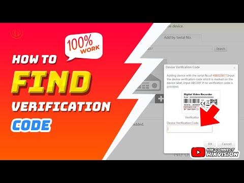 How To Find Device Verification Code   Hik Connect Hikvision Online