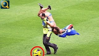 20 SHOCKING AND FUNNY MOST DUMBEST MOMENTS OF FAN INTERFERENCES IN SPORTS