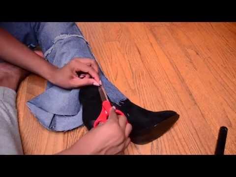 DIY Demin Heels