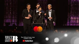 Download The 1975 win Mastercard British Album of the Year | The BRIT Awards 2019 Video