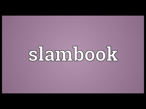 Slambook Meaning