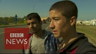 Calais: Meet the migrants entering the lorries - BBC News