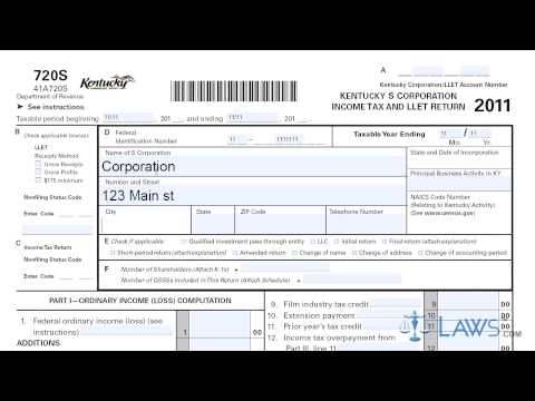 Form 720S Kentucky S Corporation Income Tax