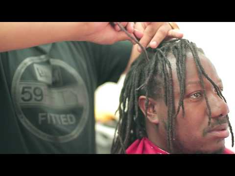CUTTING OFF DREADS!!  | Dreadlocks | MoHawk | Skin Fade | Razor Line Up | Barber | Tutorial | Kv7