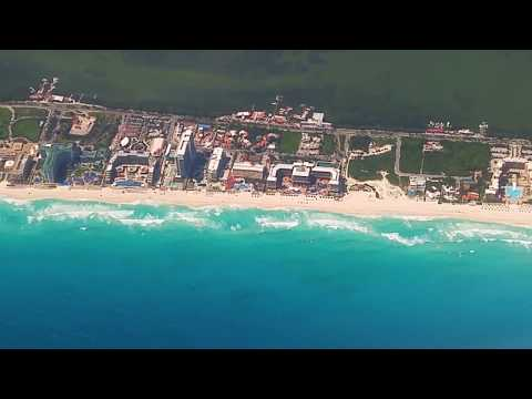 Breathtaking Top Views of CANCUN, Mexico Hotel Zone From Air