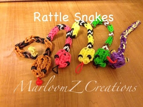 Rainbow Loom Rattle Snake Charm Gomitas Serpent