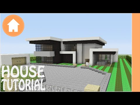 Minecraft Tutorial: How to Build a Modern House in Minecraft #1