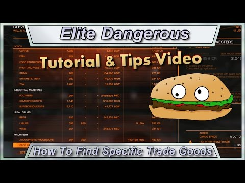 Elite Dangerous Tutorial - How To Find Specific Trade Goods