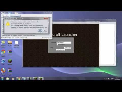 How to : How to install levels and backup minecraft