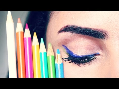 DIY Eyeliner out of COLORED PENCILS | Does it work???