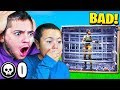 REACTING TO MY LITTLE BROTHERS FIRST GAME OF FORTNITE NOOB FORTNITE FUNNY MOMENTS
