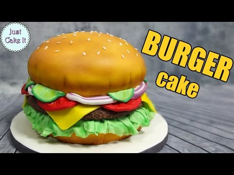 How to make a hamburger cake! EASY WAY - it's all cake inside