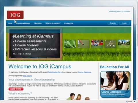 IOG iCampus - Online Learning Demo in Turf Care and Groundsmanship Videos