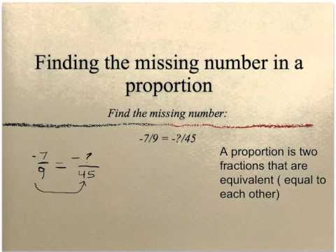 finding the missing number in a proportion (5)