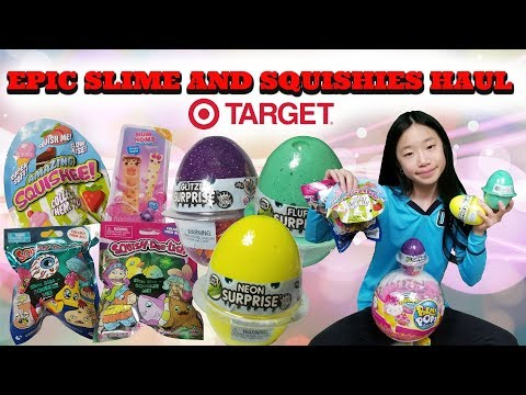 EPIC SLIME AND SQUISHIES HAUL FROM TARGET!!! 3 DIFFERENT NEW SQUISHIES BLIND BAGS and NEW SLIME!!!