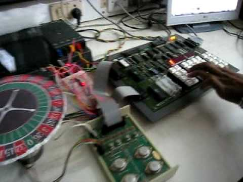 Roulette wheel using stepper motor (8085)