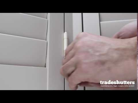 How To Remove a Window Shutter Panel
