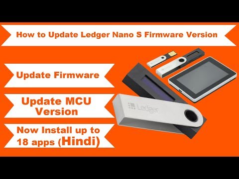 How to Update Ledger Nano S Firmware and MCU Version