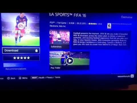 Fifa 16 ps3(not a disc) for sell on PSN download from $59.99 to $40 save $20
