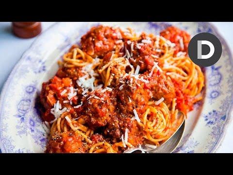 The Best Italian Spaghetti and Meatballs!
