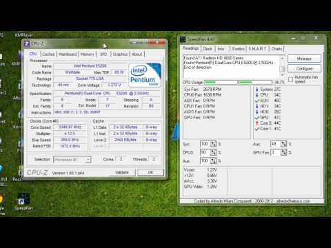 E5200 Overclock  3.35GHz ( stock cooling ) =D