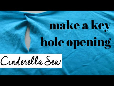 Sew a key hole collar - Make a collar smaller - Easy hand sewing DIY with Cinderella Sew