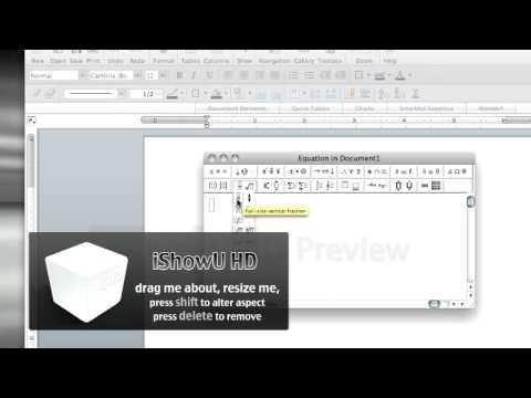 How To Insert Fraction into Word Document on MAC