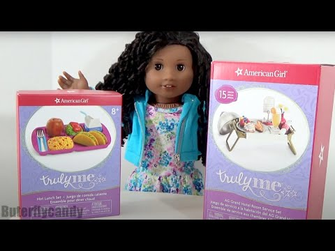 American Girl Taco Hot Lunch and Hotel Room Service Breakfast Food Sets Buterflycandy