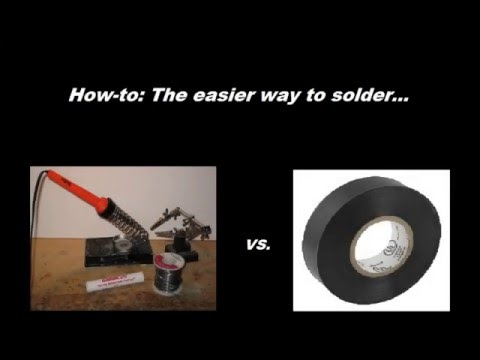 Soldering Done Easier - Join Wires With Tape