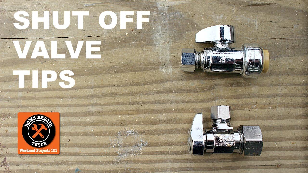 Shutoff Valve Repair for Bathrooms (Quick Tips) -- by Home Repair Tutor