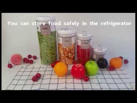 FOOYOO-Hot Sale Easy To Lock Plastic Airtight Food Storage Container Set