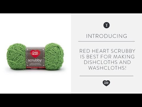 Red Heart Scrubby is Best for Making Dishcloths and Scrubbies!