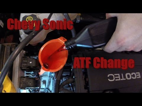 How to change/check the transmission fluid in an automatic Chevy Sonic