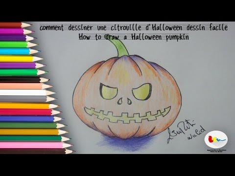 Comment dessiner une citrouille d 39 halloween dessin facile mes dessins - Citrouille a dessiner ...