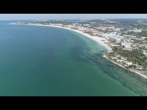 Aerial Siesta Key - Crescent Beach