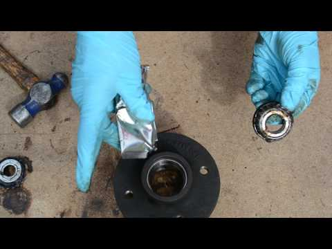 How to replace small trailer taper roller wheel bearings