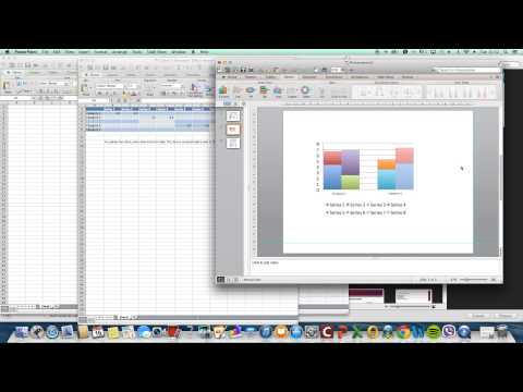 Powerpoint & Excel:  Creating a Stacked Clustered Column/Bar Chart