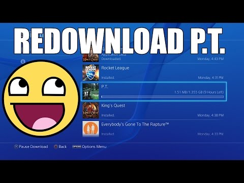 How to Redownload P.T. on PS4!