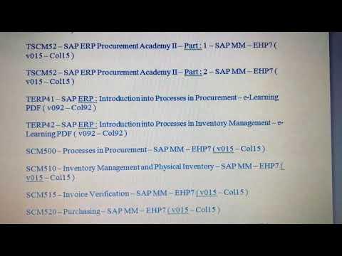 SAP MM Certification Materials Download