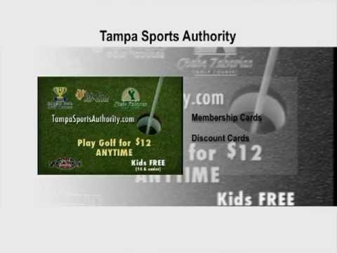 Play Golf for $12 with Tampa Sports Authority Discount Card