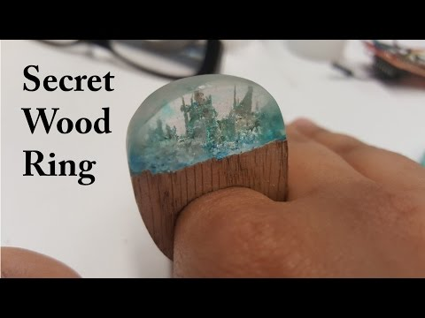 Secret Wood Ring - experimenting with wood-resin combination