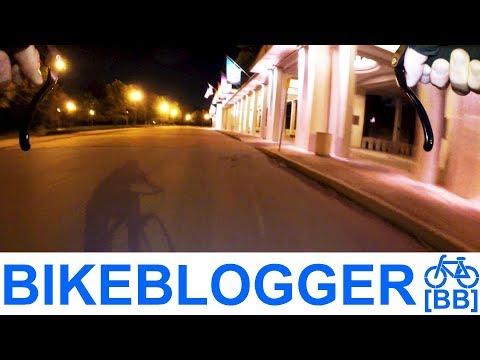Roundabout Racing Shadows At Night City Cycling Bike Blogger